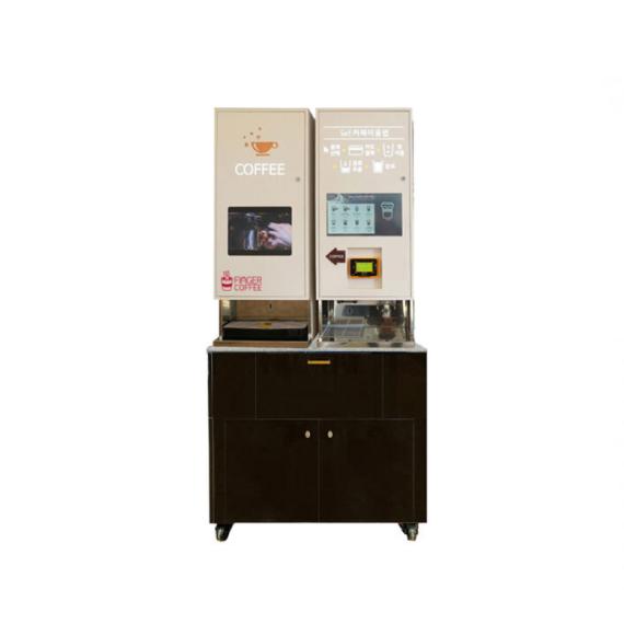 @[핑거커피] DY-2000 제빙150kg 저장량 2kg 블랙 무인커피머신 자판기 렌탈 무인카페 커피숍 창업