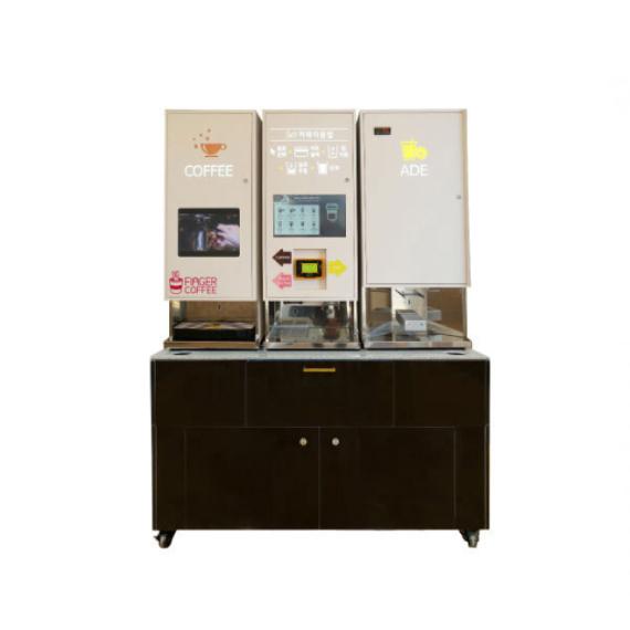 @[핑거커피] DY-3000 제빙80kg 블랙 무인커피머신 에이드자판기 렌탈 샵인샵 무인카페 커피숍 창업